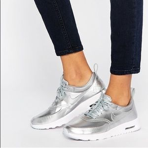 Metallic Nike Air Max shoes